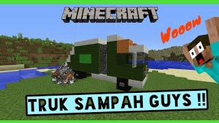 Minecraft Cara Membuat Truk Sampah !!! PC | PE