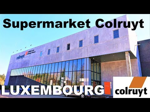 Supermarket Colruyt in Luxembourg 21 April 2019