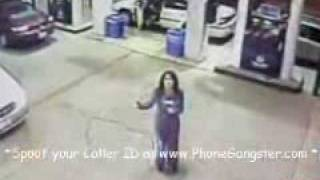 CNN reports on a ghost caught on camera at ohio gas station