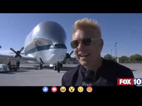SUPER GUPPY: NASA's Super Guppy is taking off from the Phoenix-Mesa Gateway Airport