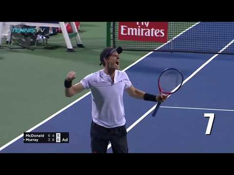 Andy Murray's incredible SEVEN match points vs Mackenzie McDonald | Citi Open 2018