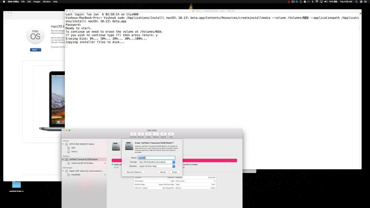 how to make a bootable usb mac high sierra