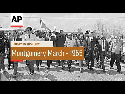MLK Leads Montgomery March - 1965 | Today In History | 25 Mar 17