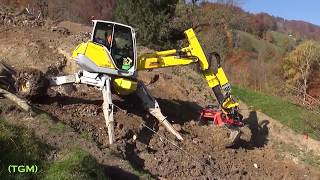 Walking excavator  Mega capabilities of the latest technology of the future