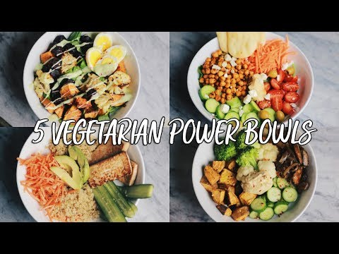 5 Vegetarian Power Bowls for the School & Work Week