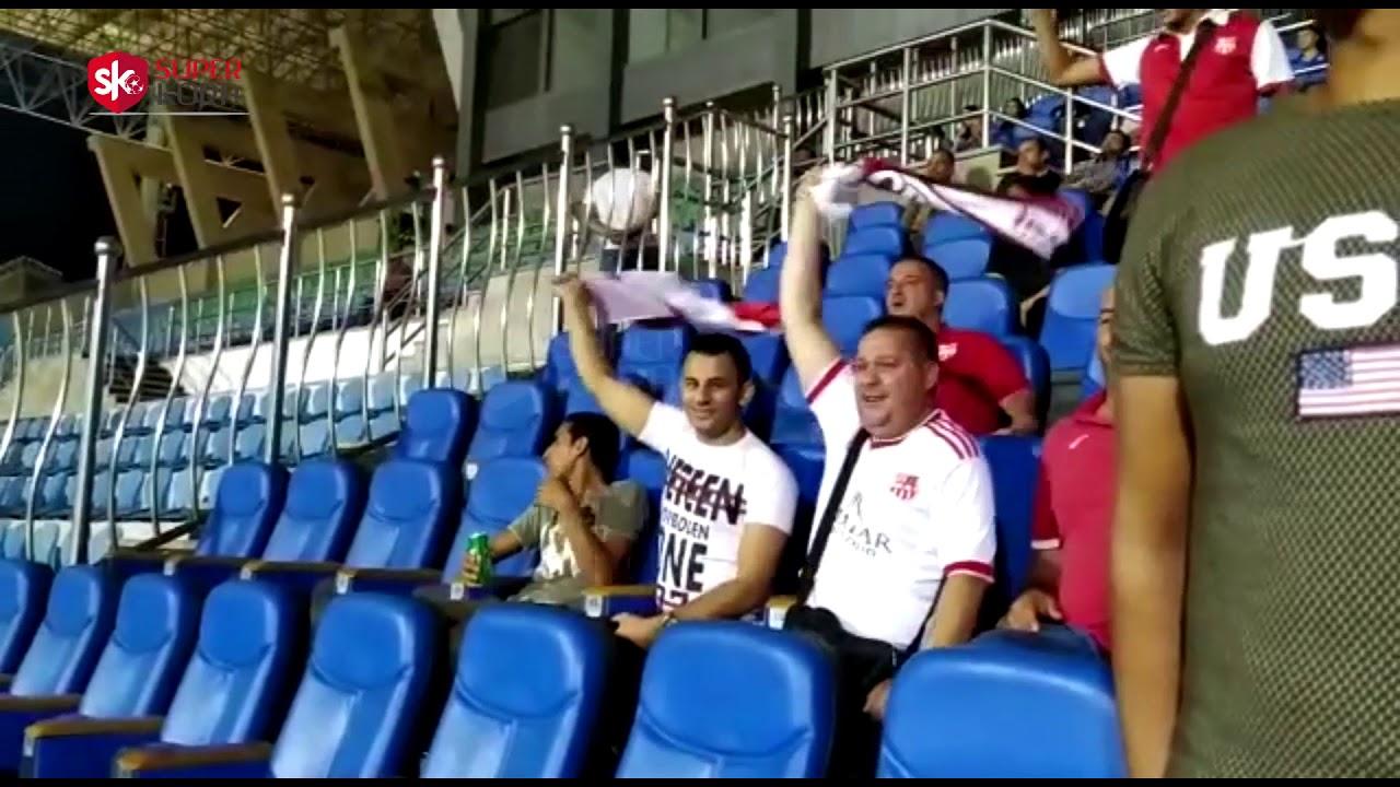 اليوم السابع :فرحة جماهير بلوزداد بعد إحرازه هدفا فى شباك بيراميدز