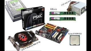 Установка Xeon E5450 Asus P5KC ASUS HD5770 1Gb 8Gb DDR3 прошивка BIOS 775 под Xeon разгон Xeon