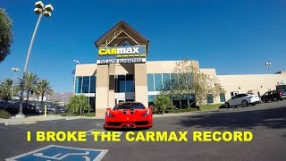 I TOOK A $400,000 FERRARI TO CARMAX!!