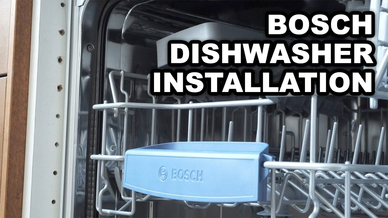 Video instructions for installing bosch built in dishwashers youtube
