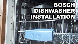 Відео інструкція по установці вбудованої посудомийки Бош