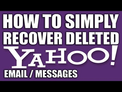 How To Recover Deleted Emails Messages From Yahoo