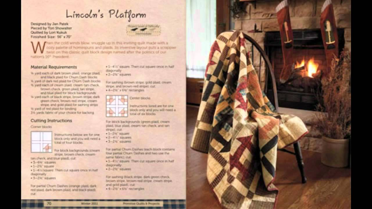Primitive Quilts and Projects Magazine - Winter Preview - YouTube : primitive quilts and projects magazine - Adamdwight.com