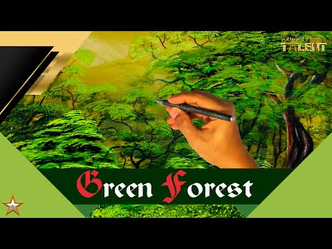 Watercolor painting for beginners of beautiful Forest landscape easy | You Got Talent