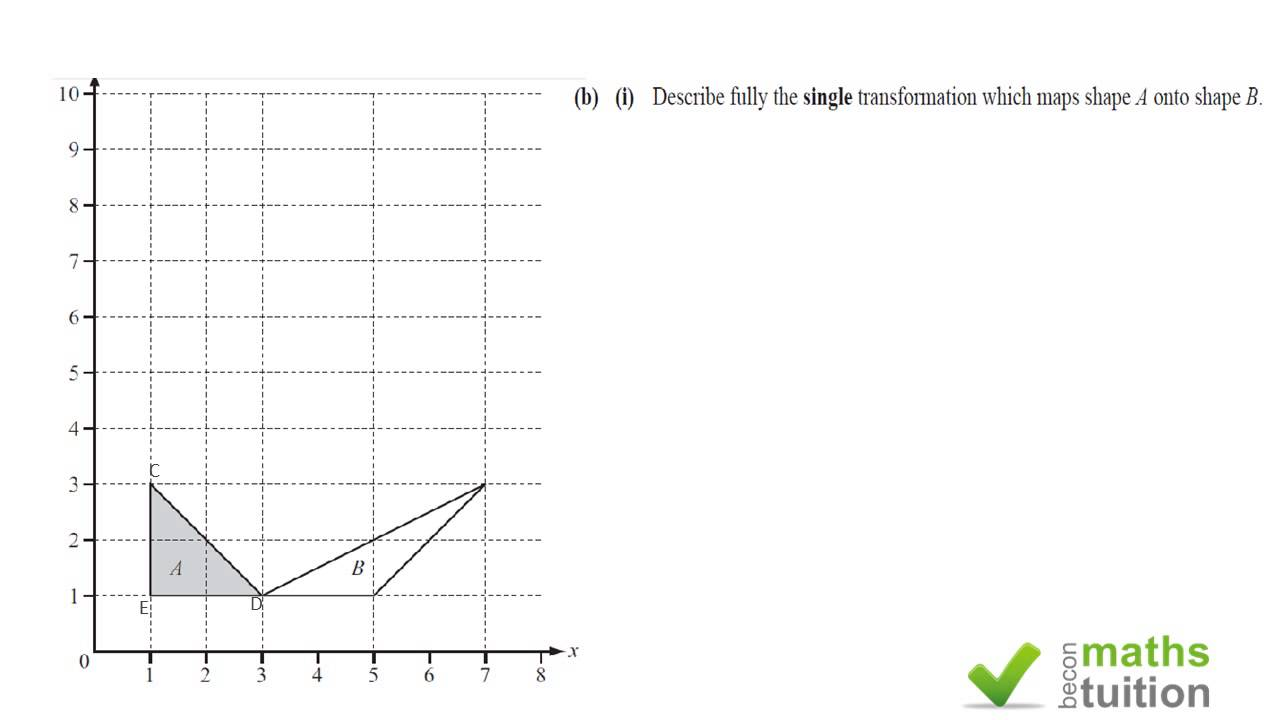 Transformation by stretch and shear June 2013 iGCSE - YouTube