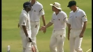 Butthurt Australian- Crazy sledge from Michael Slater to Rahul Dravid about umpire decision