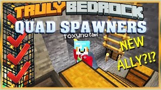 Truly Bedrock S1 EP06 : Quad Spawner Mob Farm, New Ally?!? [ Minecraft, MCPE, Bedrock Edition ]