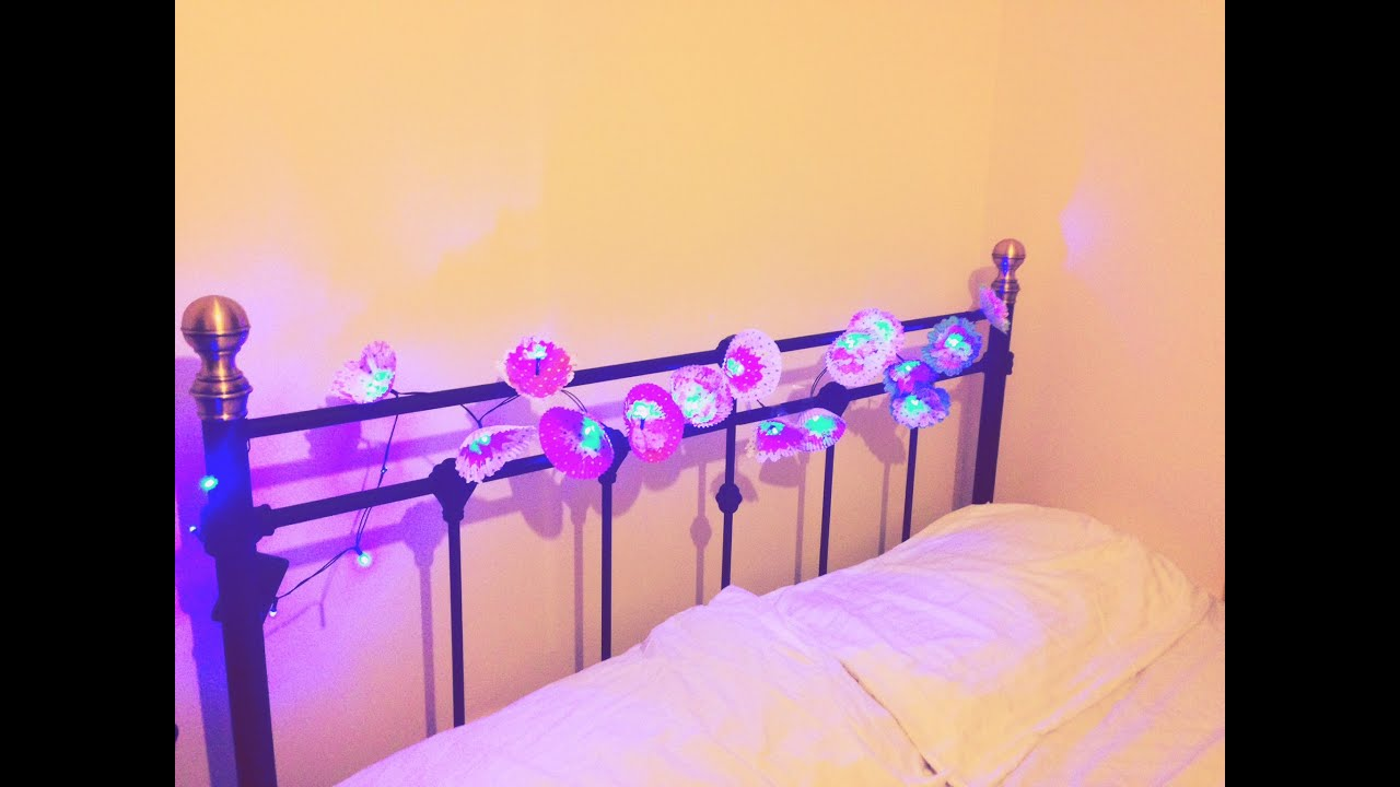 DIY Room Decor : Flower Lights/ Girls Bedroom Decor Ideas   YouTube