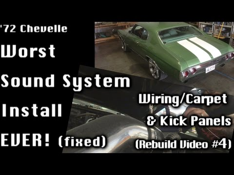3972 Chevelle Update Worst Sound System Install Fixed