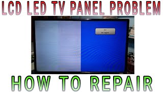 "LCD LED TV 40"" PHILIPS  HALF PICTURE IS OK AND HALF PICTURE IS WHITE  PROBLEM SOLVED"