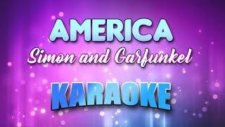 Simon and Garfunkel - America (Karaoke & Lyrics)
