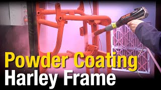 How-To Powder Coat Harley-Davidson® Frame - HotCoat Elite PCS-1000 the BEST Powder Coating System!
