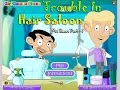 Mr Bean Cartoon Trouble In Hair Salon Games For Kids - Gry Dla Dzieci