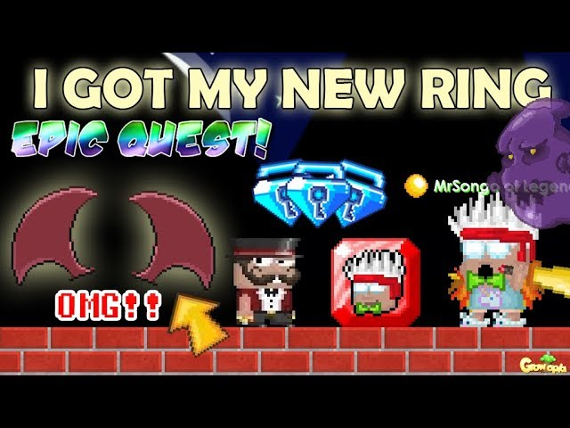 MY NEW RINGS FOR EPIC QUESTS (SPONSOR) ITEM!! OMG!!   GrowTopia