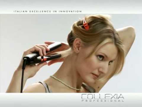 modelo de peinado con efecto liso con las puntas hacia arriba