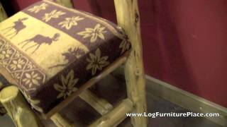 Upholstered Side Log Dining Chair From The Cedar Lake Cabin Collection