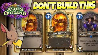 This is a Clickbait Core Hound Deck - Don't Click It | Firebat Hearthstone | Ashes of Outland