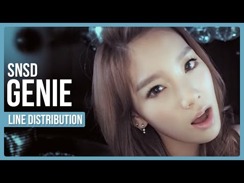 SNSD - Genie Line Distribution (Color Coded)