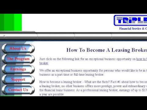 How-To Become An Equipment Leasing Broker