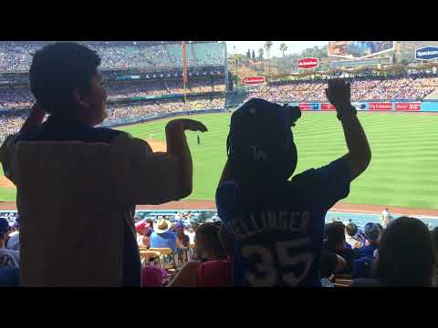 JD and Parker at the Dodger game