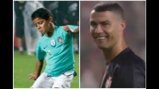 'Robôzinho' Cristiano Ronaldo Junior já treina com o sub-9 da Juventus