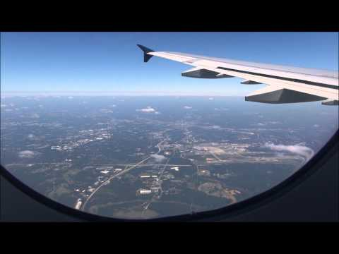 US Airways A321 arriving at Charlotte CLT