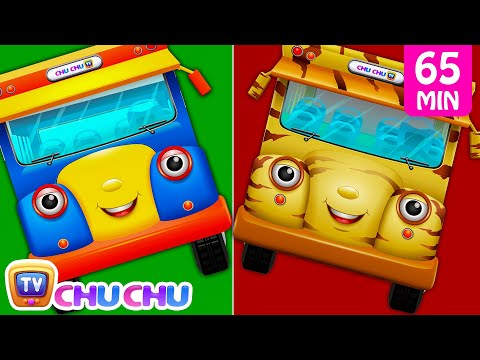 Thumbnail: Wheels On The Bus Farm Animals, Wild Animals, London, New York & Lots More Nursery Rhymes | ChuChuTV
