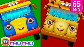 Wheels On The Bus Farm Animals, Wild Animals, London, New York & Lots More Nursery Rhymes | ChuChuTV