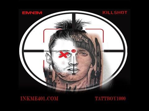 EMINEM fan gets tattoo to diss mgk