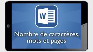 Tutoriel Word iPad - Afficher le nombre de pages, mots et de caractères de votre document