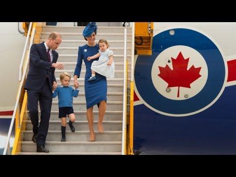 Уильям и Кейт с детьми прибыли в Канаду с официальным визитом (новости)