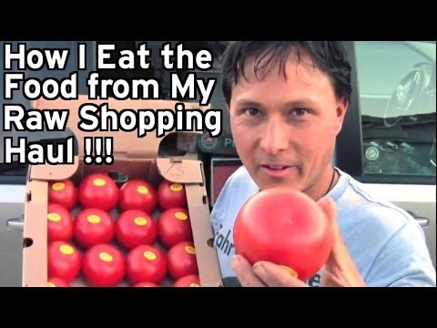 How I Eat the Food From My Raw Vegan Shopping Haul