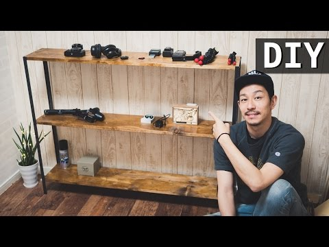 【DIY】 Make 3 step Iron shelf with 3,000 yen!