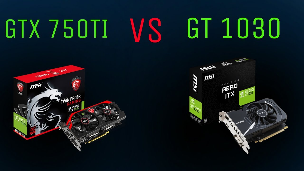 GTX 750ti VS GT 1030 GAMING BENCHMARK|7 GAMES TESTED