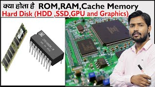 What is ROM and RAM and CACHE Memory | HDD and SSD | Graphic Card | Primary and Secondary Memory