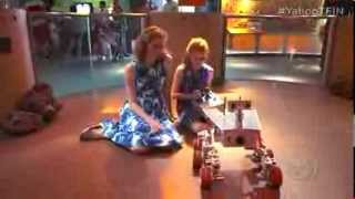 Mars rover replica built by young sisters