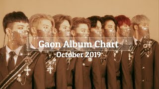  Top 100  Gaon Album Monthly Chart - October 2019
