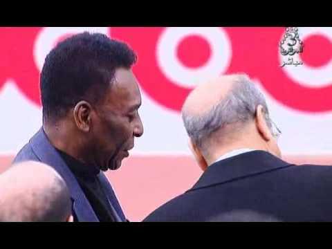 Pelé en Algérie avec Mohamed Raouraoua 2014