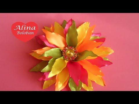 Осенний Цветок . Украшение на Шапочку / D.I.Y. Autumn Flower . Decoration on cap