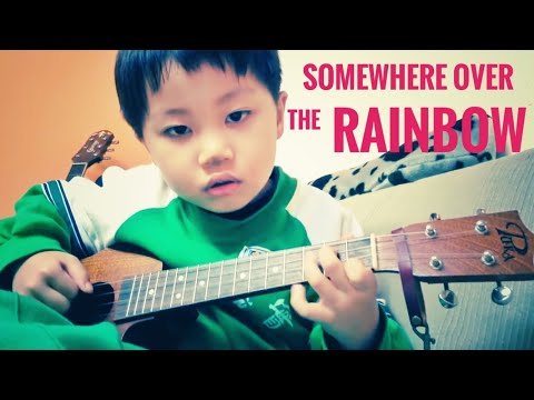 Somewhere over the rainbow, covered by Feng E when he was six years old
