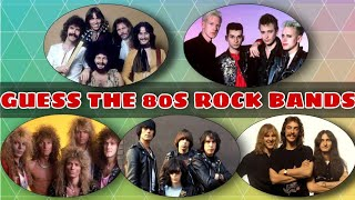 Guess the 80s Rock Bands Challenge | 80s Rock Music Trivia | 80s Rock Songs Quiz | 80's Classic Rock